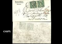 NEW SOUTH WALES, 1855, 5p PAR COVER TO LONDON , COPY