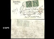 NEW SOUTH WALES, 1855, 5p PAR COVER TO LONDON FAKE