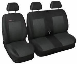 Van seat covers fit Volkswagen Transporter T6 grey P3
