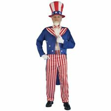 Uncle Sam Costume Adult XL Men Jacket Hat Pant Tie 4th July American Patriotic