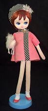 """RARE Vintage DDD Tagged Big Eye Mod 17"""" Dream Doll by Dakin Dog 1960's Japan"""
