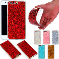 Stylish Bling Glitter Sparkle Shockproof TPU Back Case Cover For Huawei P8 Lite