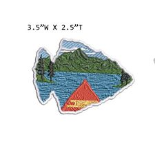 New ListingMountain Lake Nature Embroidered Patch Iron-on / Sew-on Adventure Diy Applique