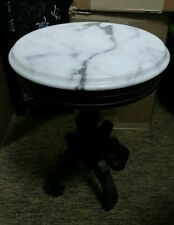 Mini Marble Table Wooden Vintage Italian Cute for vase or lamp round table