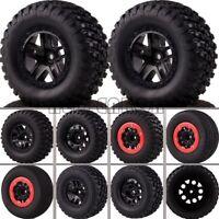 4PCS Bead-Lock Short Course Tire & Wheel 12MM HEX FOR 1/10 Traxxas Slash 4x4 HPI