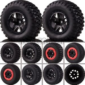 4P BeadLock Short Course Tire&Wheel 12MM HEX FOR 1/10 Traxxas Slash 4x4 HPI 10SC