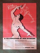 Rights Of Spring San Francisco Gay Party Dancing Poster