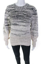 Isabel Marant Etoile Womens Cotton Crew Neck Pleane Pullover Sweater Grey Size S