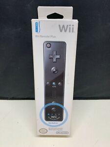 OEM Nintendo Wii Remote Plus MotionPlus Black Wireless Controller NEW Sealed