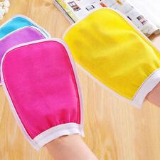 1Pc Shower Exfoliator Two-sided Bath Glove Body Cleaning Scrub Mitt RaCw Ur