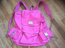 """Juicy couture womens thick nylon pink backpack   17X13X6"""""""