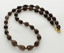 CUARZO AHUMADO cadena Collar de piedras preciosas,collar Pirita