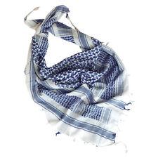 Halstuch Kopftuch Balaclava Shemagh blau weiß