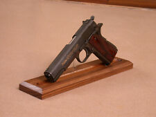 "12.5"" Gun Display Stand Walnut for Colt 1911 & Many More Made in Ok, USA"