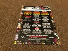 """(BEBK30) ADVERT/POSTER 11X8"""" DOWNLOAD 2008, KISS, LOST PROPHETS, THE OFFSPRING"""