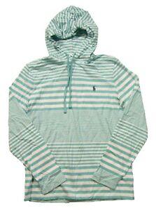 Polo Ralph Lauren Men's Green SF/White Multi Striped Hooded T-Shirt