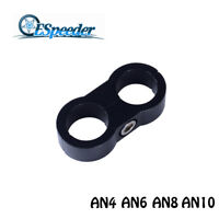 1Pc Black Hose Separator Clamp Fit For AN4 AN6 AN8 AN10 Gas/Oil/Fuel Line Hose