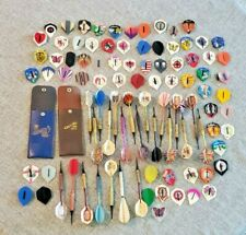 English Mark Soft Tip Darts Lot Flights Part Pieces Pouches 160+ pcs New-Used