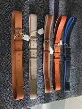 NWT Men's Belt Blue Brown  Leather Vera Pelle Italy Lot Of 5