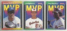 1989 Donruss MVP 26-card Baseball Set   Ripken  Canseco  Brett  Gwynn ++