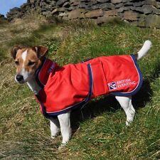 """2 in 1 British Eventing Waterproof Hi Vis Viz Yellow Dog Coat Fleece 35cm 14"""""""