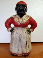 """VINTAGE AUNT JEMIMA CAST IRON COIN BANK (11"""" TALL)"""