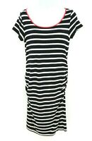 A Pea in the Pod Maternity Dress Womens Size M Black White Striped VERY SOFT!