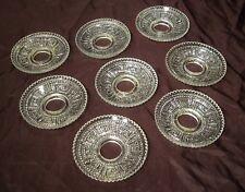 Lot 8 anciennes bobèches en verre pressé  lustre bougeoir chandelier