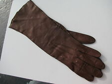 Vintage Chocolate Brown Leather Made In Western Germany Ladies Gloves Size 7