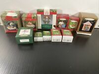 LOT OF 11 HALLMARK ORNAMENTS (ACCEPTABLE-GREAT CONDITION!) WITH BOX-SEE PICTURES