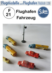 Siku F 21  Flughafen Fahrzeuge  Flugzeuge Plastic 1:250