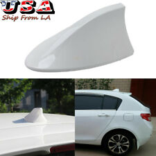 White Shark Fin Roof Antenna Aerial FM/AM Radio Signal Decor Car Trim Universal