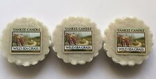Yankee Candle WILD SEA GRASS LOT OF 3 TARTS WAX MELTS VHTF RETIRED SCENT