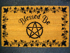 BLESSED BE DOORMAT Pagan Wiccan CELTIC WITCH Welcome Mats ENTRANCE DOOR HALL