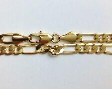 """New 14k Karat Gold Filled Figaro 9"""" Anklet Ankle Bracelet"""