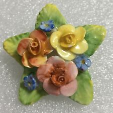 """Vintage Artone Bone China Boquet of Flowers Pin Brooch Made in England 1.75"""" O4"""
