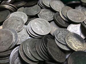 Pre 1921 Silver Morgan Dollar Cull Lot of 100 S$1 Coins