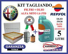 KIT TAGLIANDO FILTRI ALFA MITO 1.6 JTD + OLIO REPSOL 5W30 5LT