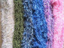Echarpe magique douce tube à poils, Couleur au choix uni ou chiné - long.160 cm.