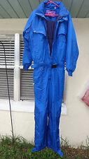 Vintage NEVICA 80'S 90's Snow Ski Suit 1 Piece  BLUE Size 42 Hide Hood