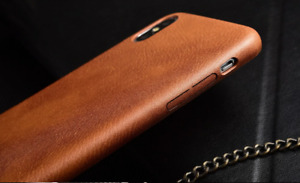 Luxury Phone Case Vintage brown leather Cover for iPhone 7 8 6 Plus