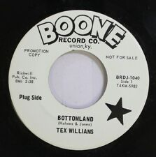 Country Promo Nm! 45 Tex Williams - Bottomland / The First Step Down On Boone Re