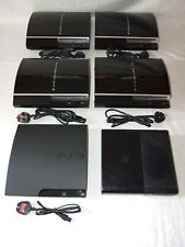 PS3 Piano Black x4, PS3 Slim x1, Xbox 360 E x1 Video Games Consoles (x6 Joblot)