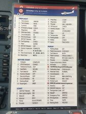 CESSNA 172 SKYHAWK QUICK REFERENCE CHECKLISTS by QREF 2 Card Set CE-172-2
