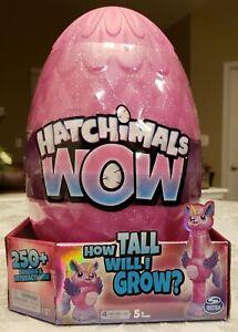 "Hatchimals Wow Llalacorn 32"" Tall Interactive Hatch Me Again & Again 250+ Sounds"