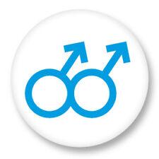 """Pin Button Badge Ø25mm 1"""" Sexe Sexual Gay Homosexuel Boy Homme"""