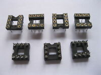 60 pcs IC Socket Adapter Pitch 2.54mm 8 PIN Round DIP High Quality X=7.62mm New