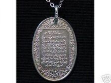 LOOK Silver Ayat Al Kursee Allah Islamic Islam Muslim Charm