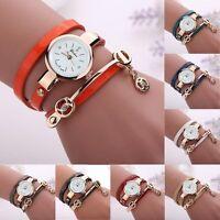Womens Watch Quartz Vintage Leather Stainless Steel Analog Ladies Wrist Watches