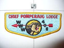 OA Chief Pomperaug Lodge 408,S-1,1960s Flap,313 Tankiteke,389,521,Connecticut,CT